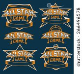 set of vintage sports all star... | Shutterstock .eps vector #266496578