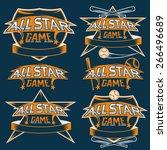 set of vintage sports all star... | Shutterstock .eps vector #266496689