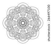 beautiful deco mandala  vector  ... | Shutterstock .eps vector #266497100
