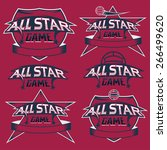 set of vintage sports all star... | Shutterstock .eps vector #266499620