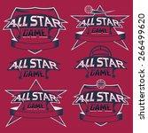 set of vintage sports all star... | Shutterstock .eps vector #266499620