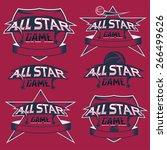 set of vintage sports all star... | Shutterstock .eps vector #266499626