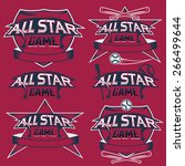 set of vintage sports all star... | Shutterstock .eps vector #266499644