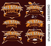 set of vintage sports all star... | Shutterstock .eps vector #266500340