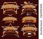 set of vintage sports all star... | Shutterstock .eps vector #266500340