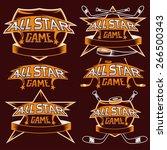 set of vintage sports all star... | Shutterstock .eps vector #266500343
