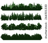 set of four forest silhouettes. ... | Shutterstock .eps vector #266501330