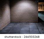 Brick Walls Of Deserted Street...