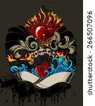 tattoo illustration   Shutterstock .eps vector #266507096