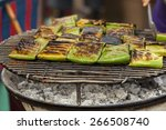 Thai Style Grill In Banana Leaf