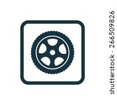car wheel icon rounded squares... | Shutterstock . vector #266509826