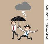 businessman holding umbrella...   Shutterstock .eps vector #266510099