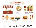 street food infographic  flat... | Shutterstock .eps vector #266512073