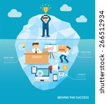 behind business success flat... | Shutterstock .eps vector #266512934