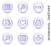 image viewer web icons  glossy... | Shutterstock .eps vector #26651464