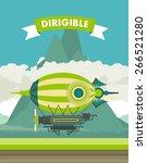 vector illustration aircraft... | Shutterstock .eps vector #266521280