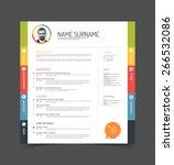 vector minimalist cv   resume... | Shutterstock .eps vector #266532086