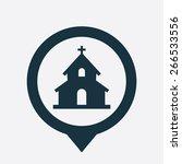 church icon vector | Shutterstock .eps vector #266533556