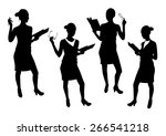 business woman silhouettes... | Shutterstock .eps vector #266541218