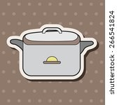 kitchenware rice cooker theme... | Shutterstock .eps vector #266541824