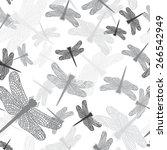 Dragonflies  Seamless Pattern ...