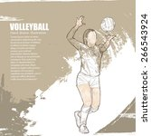 illustration of volleyball.... | Shutterstock .eps vector #266543924
