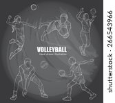 illustration of volleyball on... | Shutterstock .eps vector #266543966