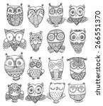 richly decorated owls vector... | Shutterstock .eps vector #266551370