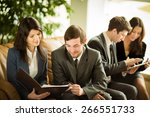 image of business people... | Shutterstock . vector #266551733