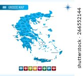 greece map with navigation icons | Shutterstock .eps vector #266552144