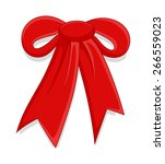 retro ribbon bow | Shutterstock .eps vector #266559023