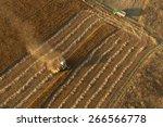 beautiful morning. fields from... | Shutterstock . vector #266566778