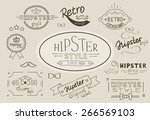 retro hipster stamps and decors ... | Shutterstock . vector #266569103