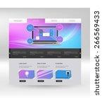 website template design for... | Shutterstock .eps vector #266569433