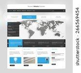website template design for... | Shutterstock .eps vector #266569454