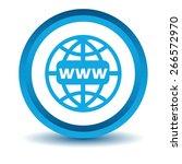 www icon blue. simple...   Shutterstock .eps vector #266572970