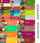 mega collection of flat design... | Shutterstock .eps vector #266578520
