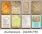 set of vintage labels  logo ... | Shutterstock .eps vector #266581790