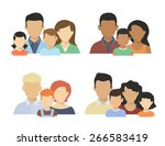 flat four various couples  with ... | Shutterstock .eps vector #266583419