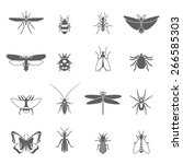 Insects Black Icons Set With...