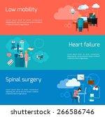 sedentary lifestyle horizontal... | Shutterstock .eps vector #266586746