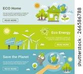 eco energy horizontal banner... | Shutterstock .eps vector #266586788