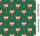 fox pattern | Shutterstock .eps vector #266589560