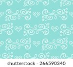 floral seamless pattern with... | Shutterstock . vector #266590340