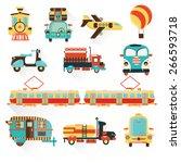 set of transport flat modern... | Shutterstock .eps vector #266593718