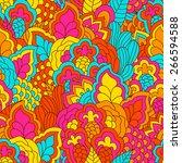 hand drawn seamless pattern...   Shutterstock .eps vector #266594588