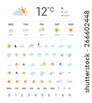 weather icons | Shutterstock .eps vector #266602448