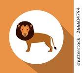 circus design over orange... | Shutterstock .eps vector #266604794