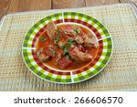 mexican grillades and grits... | Shutterstock . vector #266606570