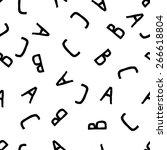 abc alphabet seamless pattern | Shutterstock .eps vector #266618804
